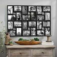 multiple picture frames wood. Black 24-Opening Collage Frame Multiple Picture Frames Wood