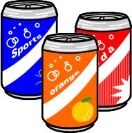 無料イラスト画像: 缶 ジュース ジュース 飲む イラスト