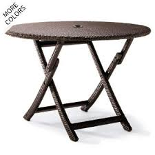 Round outdoor metal table Mesh Cafe Round Folding Table Frontgate Outdoor Dining Tables Frontgate