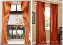 creative design rust colored curtains vibrant whats ur home story