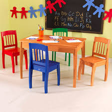 colors kids table chair