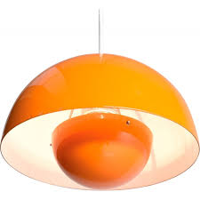 louis poulsen scandinavian flowerpot orange hanging lamp verner panton 1969