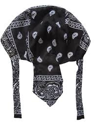 Do Rag Pattern Inspiration Men Diamond Plate Cotton Skull Caps Women Hat Doo Rag Biker Bandana