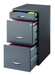 file cabinet. Beautiful Cabinet Hirsh SOHO 3 Drawer File Cabinet In Charcoal Inside A