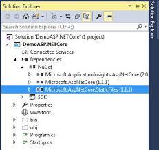Serve Static Files In ASP.NET Core Using Visual Studio 2017