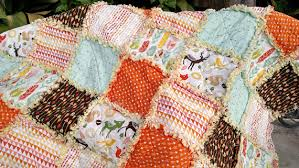 Rag Quilt, Rag Quilts for Sale, Feathers Arrows and Woodland ... & Rag Quilt, Rag Quilts for Sale, Feathers Arrows and Woodland Creatures, Lap  Quilt, Blanket Throw, Handmade, Approx 56
