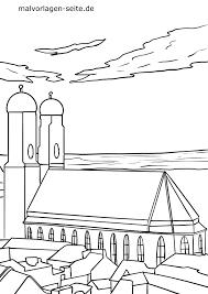 Kleurplaat Frauenkirche München Toerisme Aantreklikhede