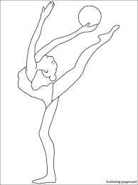 Small Picture Gymnastics coloring page Coloring pages