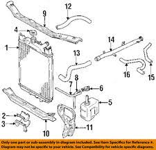 car truck radiators parts for geo genuine oem geo gm oem 89 94 metro 1 0l l3 radiator lower cross member right 30005849 fits geo