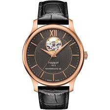 tissot watches men s tradition powermatic 80 black strap watch tissot watches men s tradition powermatic 80 black strap watch