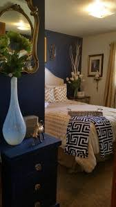 blue and gold bedroom