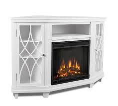 real flame lynette corner electric fireplace media cabinet pottery barn