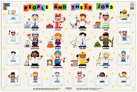 Occupation Chart Pictures People And Their Jobs Interactive Wallchart Hands On