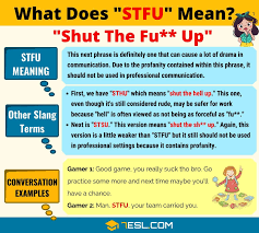 STFU Meaning: What Does STFU Mean? - Fluent Land | Other ways to say, Slang  words, Stfu
