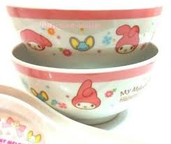 Sanrio My Melody Rice Cereal Soup Bowl Melamine Plastic Dinnerware Set of 2  | eBay