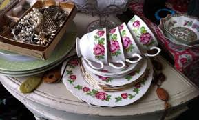 Image result for photo old jewellery & crockery