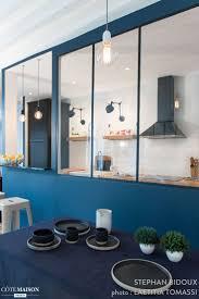 Les 25 Meilleures Id Es De La Cat Gorie Separation Cuisine Salon Une Verriere Sur Un Muret Entre Le Salon Et La Salle A Manger Pour Separer Les