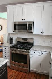 Kitchen Hardware For Cabinets White Shaker Cabinets With Restoration Hardware Dakota Pulls And