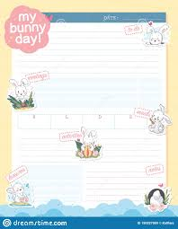 daily page calendar vector daily planner organizer page design template