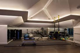 led linear lighting in the gym