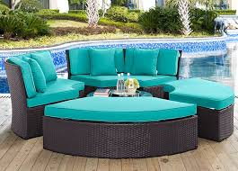 convene turquoise circular outdoor patio daybed set jpg