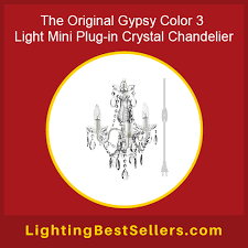 the original gypsy color 3 light mini plug in crystal chandelier featured