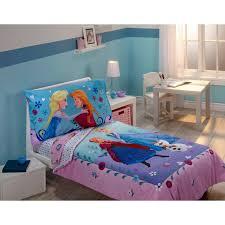 frozen anna elsa toddler crib comforter sheet set 4 piece bedding set com