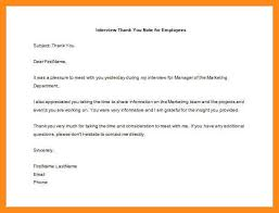 sample thank you letter after resignation thank you letter to employee after interview