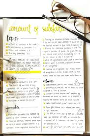 "best chemistry notes ideas science notes  hannah cerise "" this is my first studyblr post of my own making chemistry notes on the mole for next year"