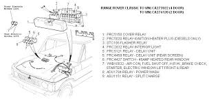 land rover parts fuse box & relays (to vin ca273922 4 door) (to 2004 range rover fuse box diagram at Land Rover Fuse Box