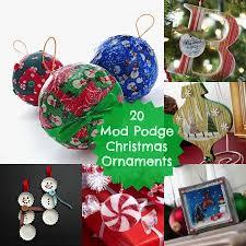 20 Mod Podge DIY Christmas ornaments