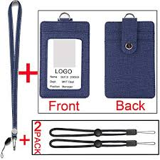 With Holders Amazon Neck 2 Lanyards com Vertical Badge Id sided x1IqwOZBR