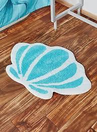 Captivating Disney The Little Mermaid Seashell Bath Rug,