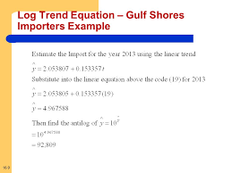 9 16 9 log trend equation gulf ss importers example