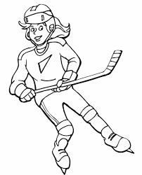 Small Picture Free Field Hockey Coloring Pages Hockey Player Coloring Page Free