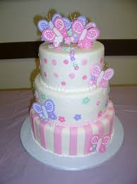 8 Butterfly Cakes For Baby Girls Photo Butterfly Baby Shower Cake
