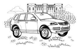 Volkswagen Touareg Kleurplaat Gratis Kleurplaten Printen