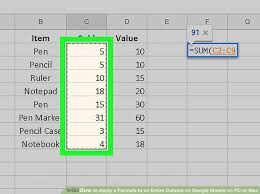 image titled apply a formula to an entire column on google sheets on pc or mac