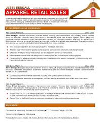 Retail Clothing Store Manager Resume Appare2 Jesse Kendall Best