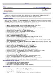 Sample Resume For Selenium Automation Testing Sample Resume Selenium Experience Danayaus 11