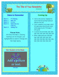 newsletter template for pages free word earth day newsletter template spring tpt
