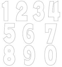 Numbers Template Pageant Contestant Free Templates Table