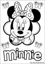 Small Picture Minnie Mouse coloring pages on Coloring Bookinfo