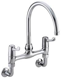 Bristan Value Lever Wall Mounted Kitchen Sink Mixer Tap 6 Inch