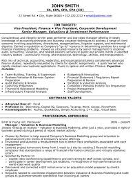 Vice President Resume Samples A Professional Resume Template For A Vice President Of Finance Want