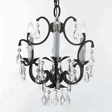 j10 618 3 wrought iron crystal chandelier to enlarge