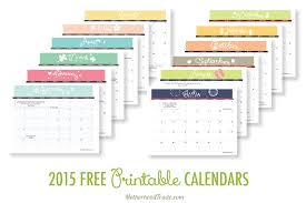 monthly calendar template 2015 2015 free printable calendars sugardoodle net free printable
