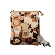 Coach Fashion Turnlock Signature Small Yellow Crossbody Bags EOR