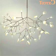 modern branch chandelier white tree branches chandeliers suspension hanging light throughout view mod crystal