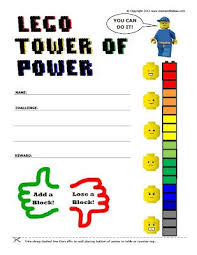 Lego Tower Of Power Reward Chart Free Printable Lego Reward Chart Printable Reward